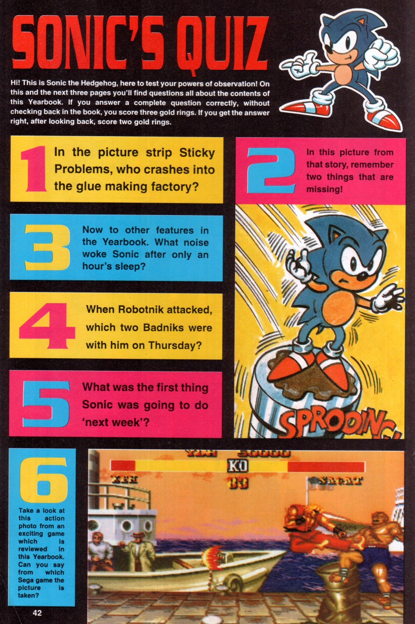 Sonic the Hedgehog Yearbook 1992 Page 38