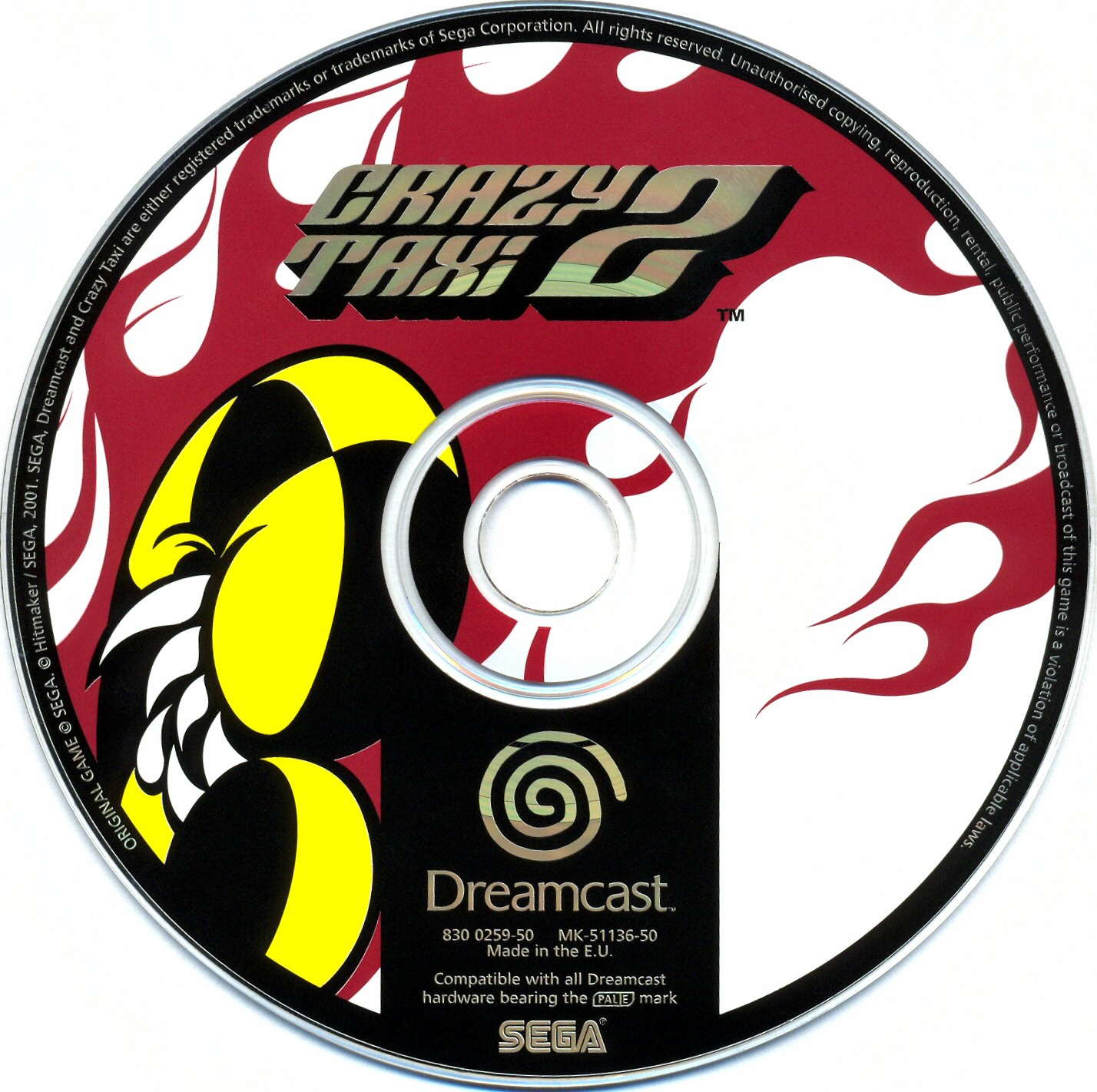 Crazy Taxi 2 (PAL) CD Scan - Click for full size image