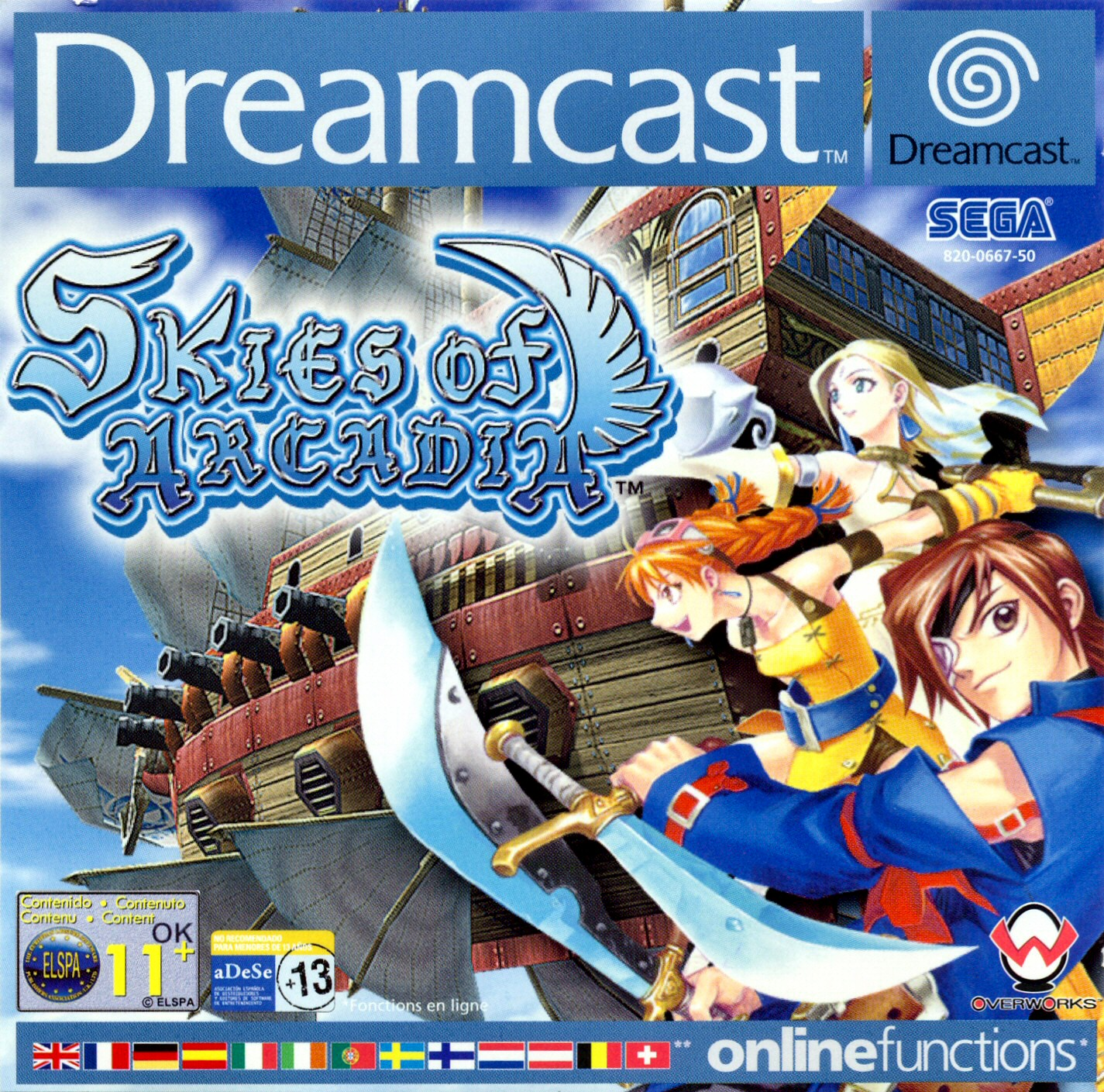 Skies Of Arcadia (Dreamcast et GameCube) Skies%20of%20Arcadia%20PAL%20DC-front