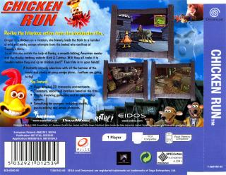 Chicken Run (PAL) Back Cover - Click for full size image