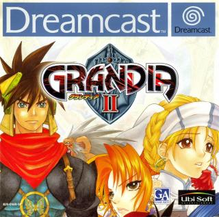 Grandia II (PAL) Front Cover - Click for full size image