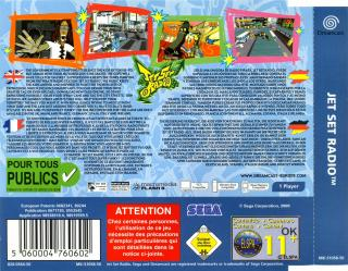 Jet Set Radio (PAL) Back Cover - Click for full size image