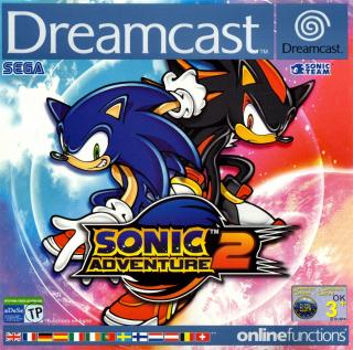 Sonic Adventure 2 (PAL) Front Cover - Click for full size image