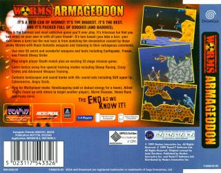 Worms Armageddon (PAL) Back Cover - Click for full size image