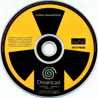Worms Armageddon (PAL) CD Scan - Click for full size image