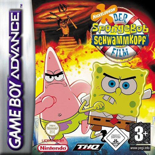 The spongebob squarepants movie e rising sun box art