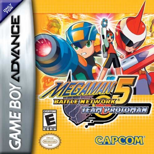 Megaman Battle Network 5 - Team Protoman (U)(Trashman) Box Art