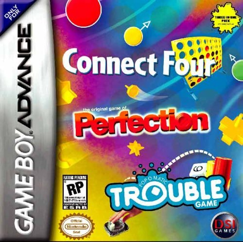 Connect Four, Perfection, Trouble (U)(Trashman) Box Art