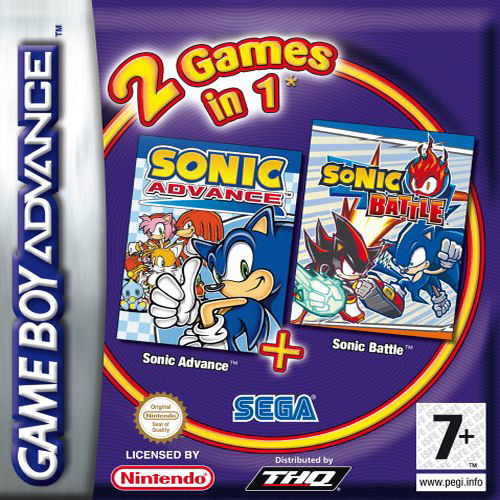 2 in 1 - Sonic Advance & Sonic Battle (E)(Rising Sun) Box Art