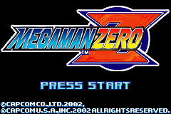 MegaMan Zero (U)(Venom) Title Screen