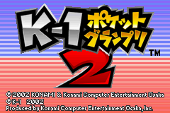 K-1 Pocket Grand Prix 2 (J)(GBATemp) Title Screen