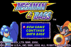 MegaMan & Bass (U)(Venom) Title Screen