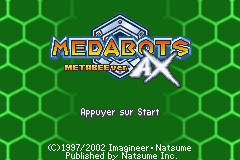 Medabots AX - Metabee Version (E)(Rising Sun) Title Screen