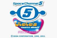 Space Channel 5 - Ulala's Cosmic Attack (U)(Mode7) Title Screen