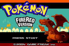 Pokemon Fire Red (U)(Squirrels) Title Screen