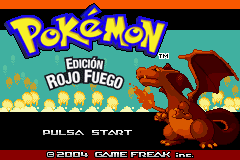 Pokemon Rojo Fuego (S)(Rising Sun) Title Screen