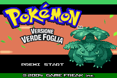 Pokemon Verde Foglia (I)(Independent) Title Screen