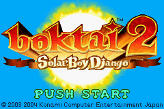 Boktai 2 - Solar Boy Django (U)(Rising Sun) Title Screen