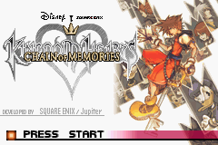 Kingdom Hearts  - Chain of Memories (U)(Venom) Title Screen