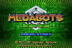 Medabots -  Metabee Version (U)(Oldskool) Title Screen