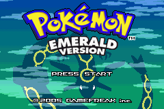 Pokemon Emerald (U)(TrashMan) Title Screen