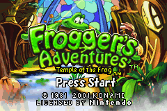 Frogger's Adventures - Temple of the Frog (E)(Independent) Title Screen