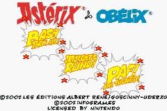 2 in 1 - Asterix and Obelix (E)(Rising Sun) Title Screen