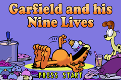 Garfield and His Nine Lives (U)(Trashman) Title Screen