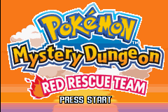 Pokemon  Mystery Dungeon - Red Rescue Team (U)(RDG) Title Screen