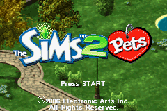 The Sims 2 - Pets (U)(Rising Sun) Title Screen