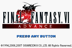 Final Fantasy VI Advance (U)(Xenophobia) Title Screen
