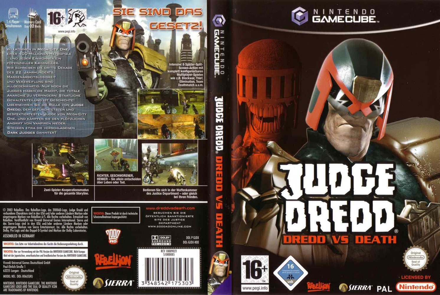 Judge dredd dredd vs death gamecube controls