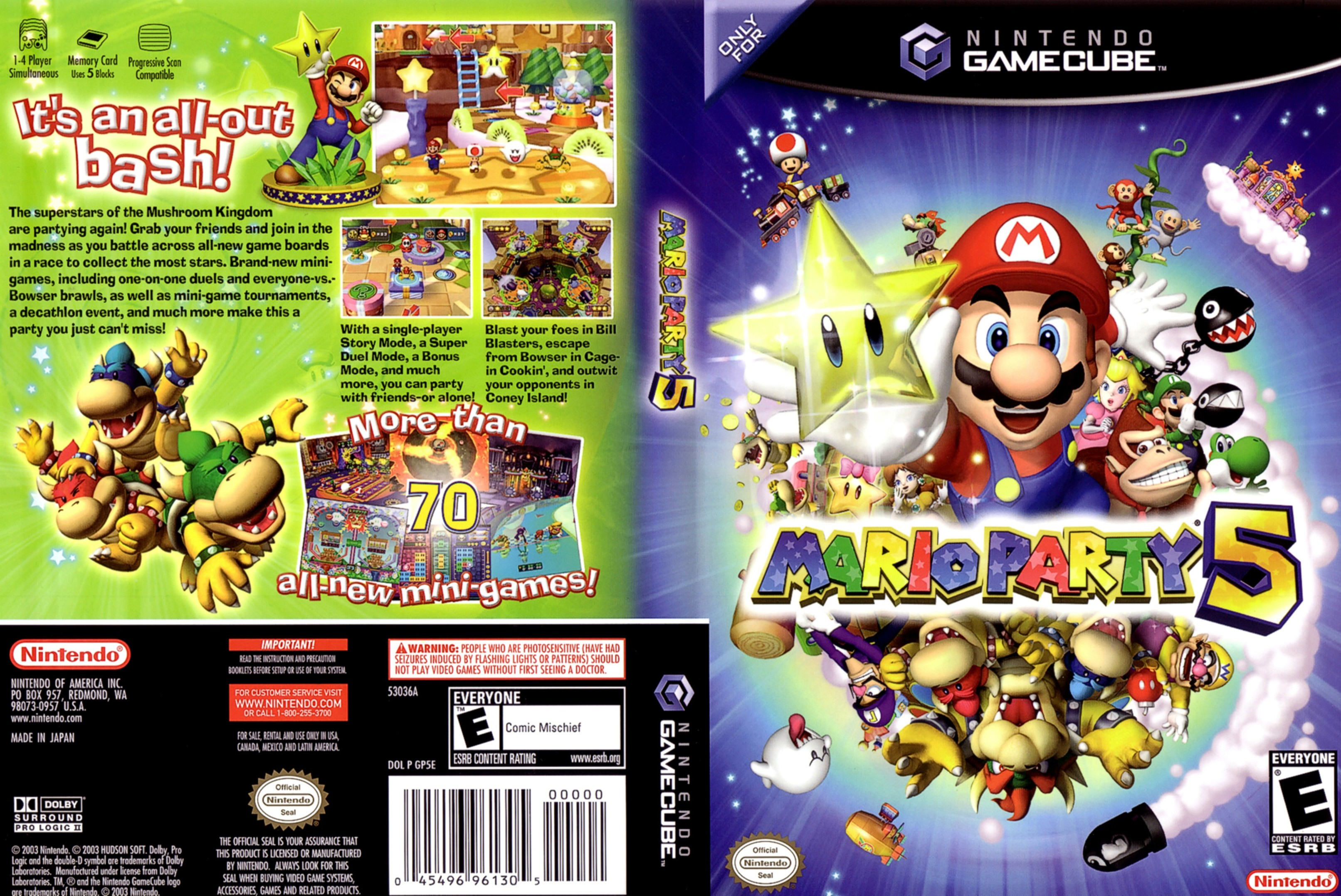Mario Party 5 Cover - Click for full size image