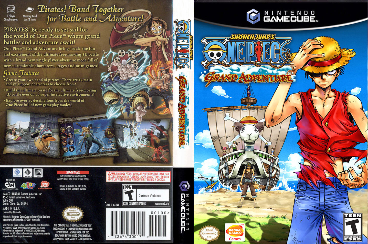 One Piece Grand Adventure Cover - Click for full size image