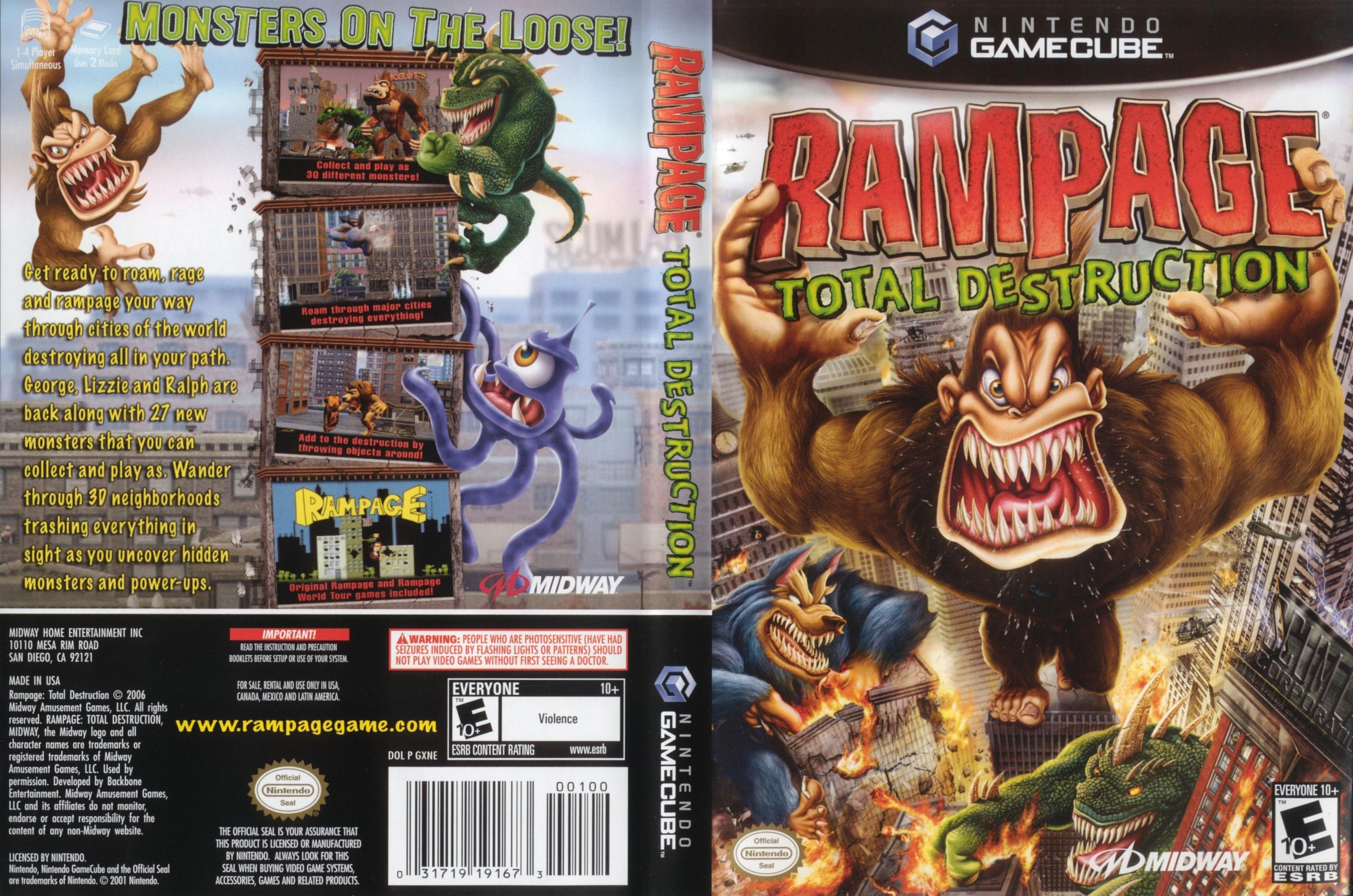 rampage total destruction iso