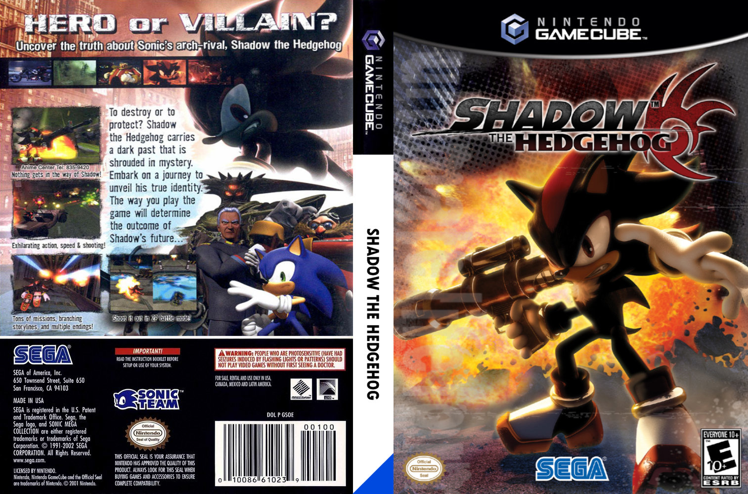 Shadow the Hedgehog Game Cover
