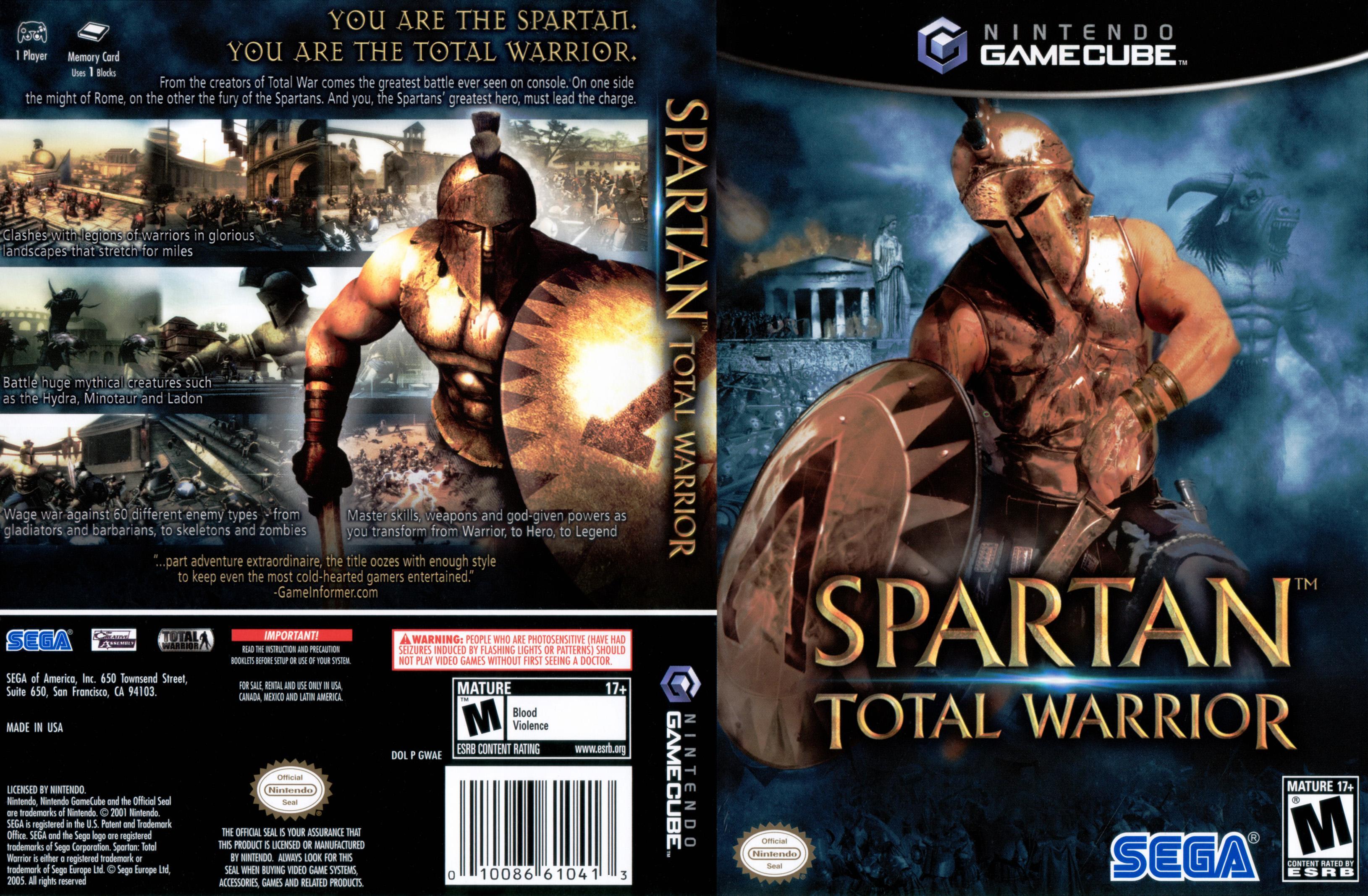 Spartan Total Warrior ISO