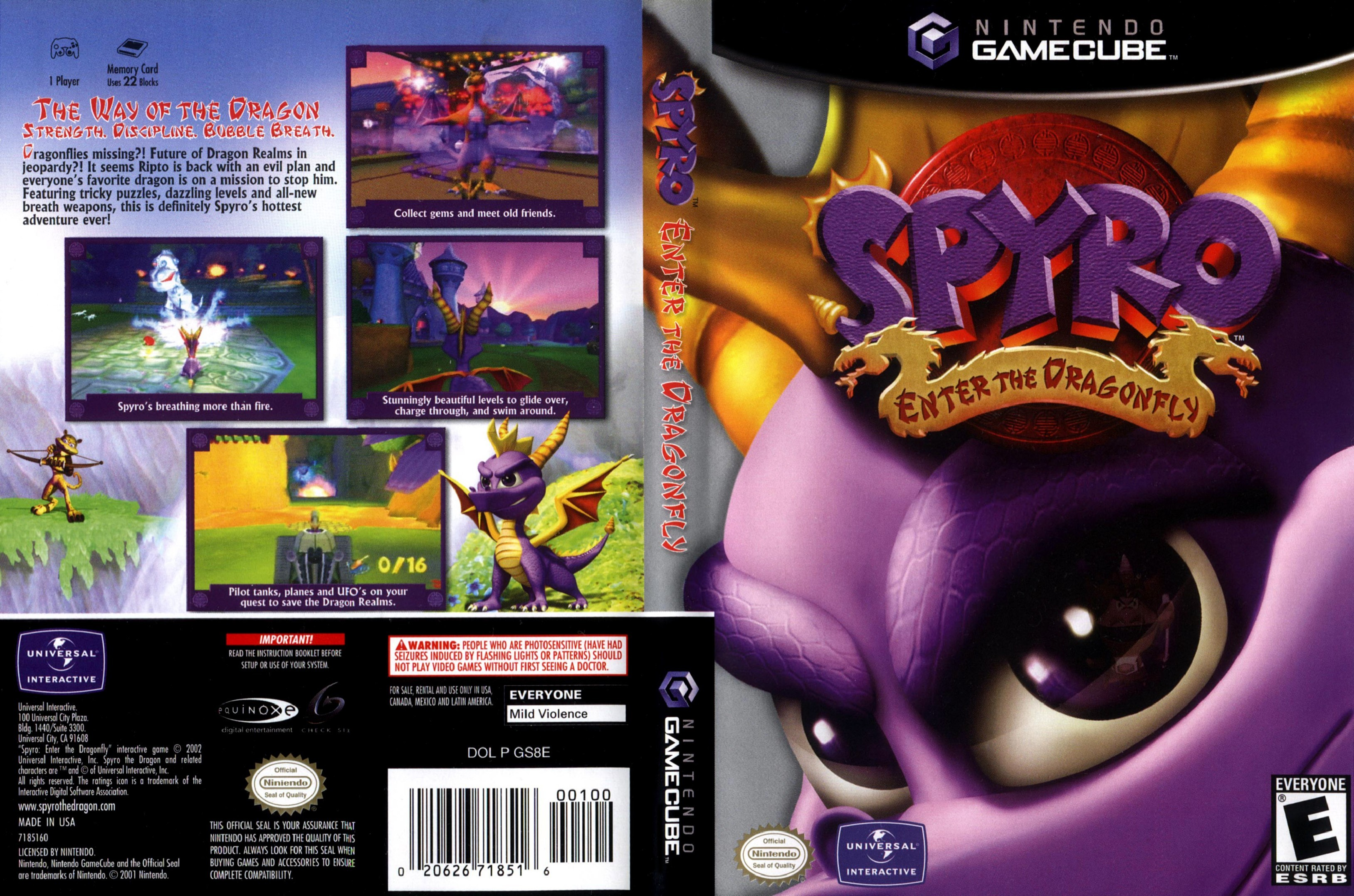 Spyro Enter The Dragonfly Cover - Click for full size image