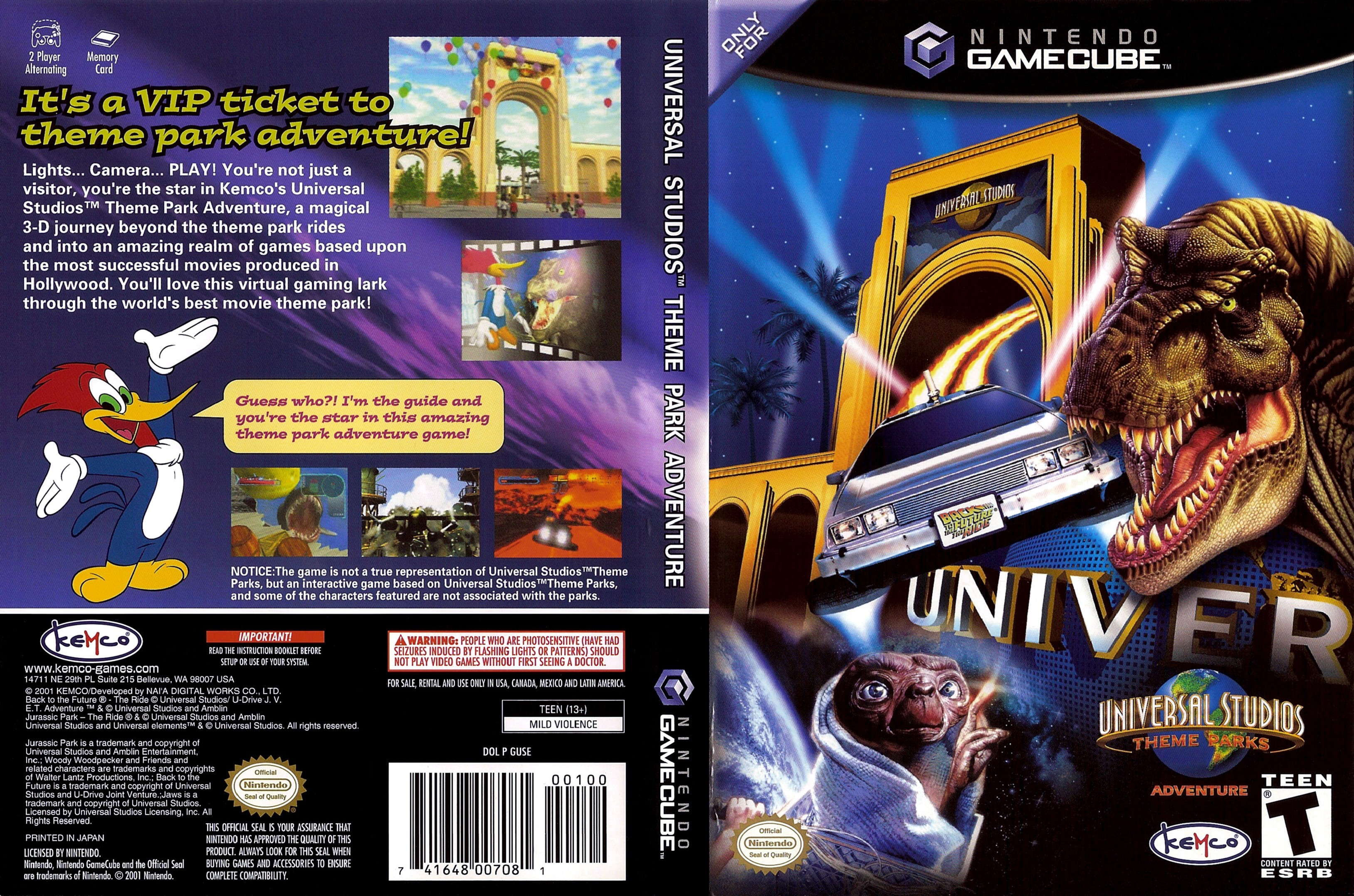 Universal Studios Theme Park Adventure Iso