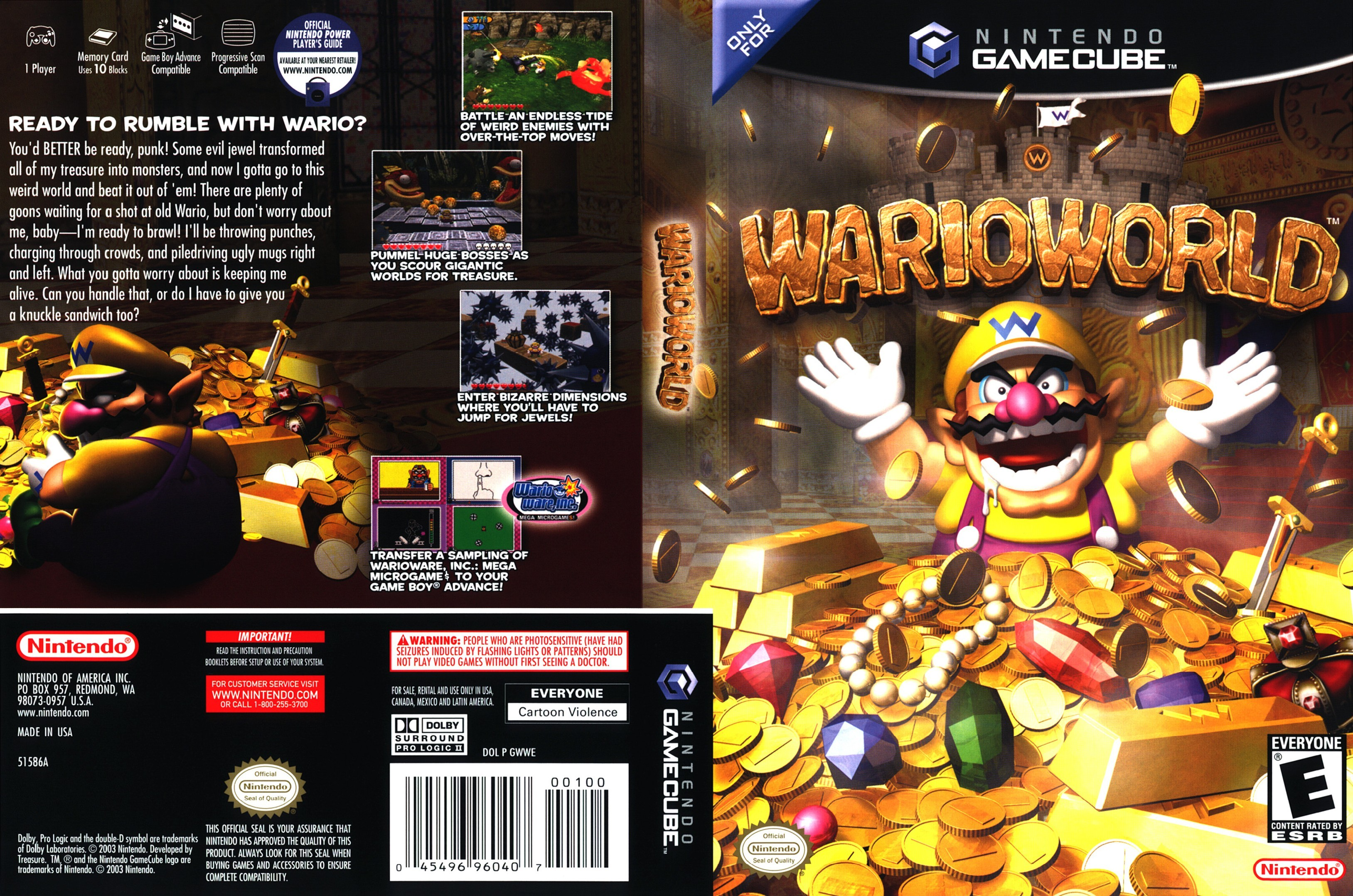 Wario World Cover - Click for full size image