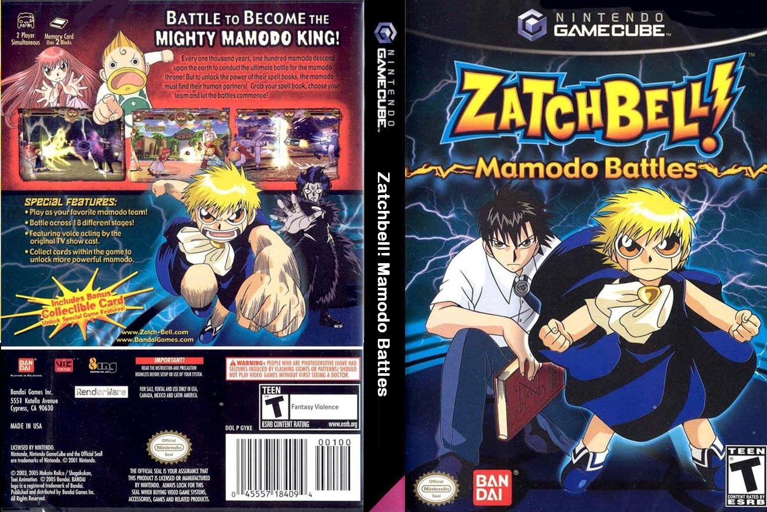 Zatch Bell Mamodo Battles Cover - Click for full size image