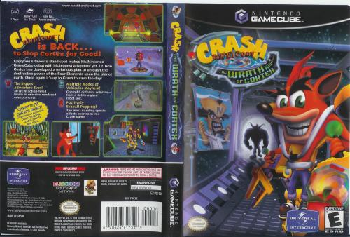 Crash Bandicoot The Wrath Of Cortex Cover - Click for full size image