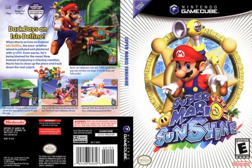 Super Mario Sunshine Cover - Click for full size image