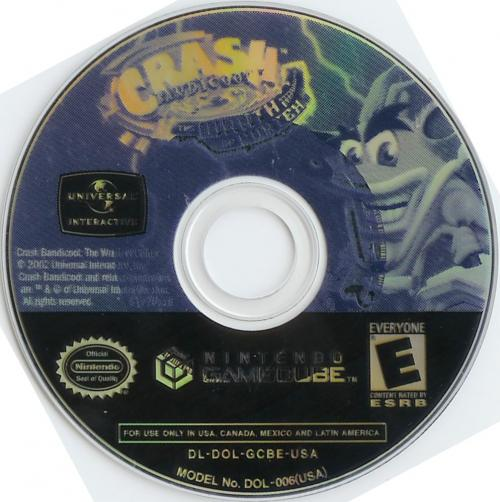 Crash Bandicoot The Wrath Of Cortex Disc Scan - Click for full size image