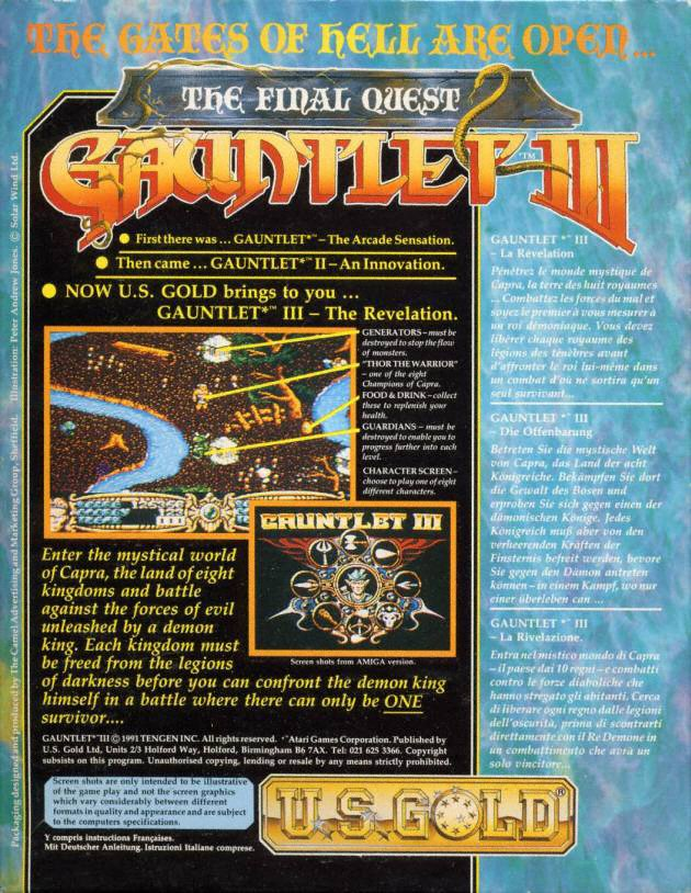 Gauntlet III - The Final Quest ROM
