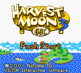 Harvest Moon 3 GBC (USA) Title Screen