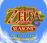 Legend of Zelda, The - Oracle of Seasons (USA) Title Screen