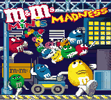 M&M's Minis Madness (Europe) Title Screen
