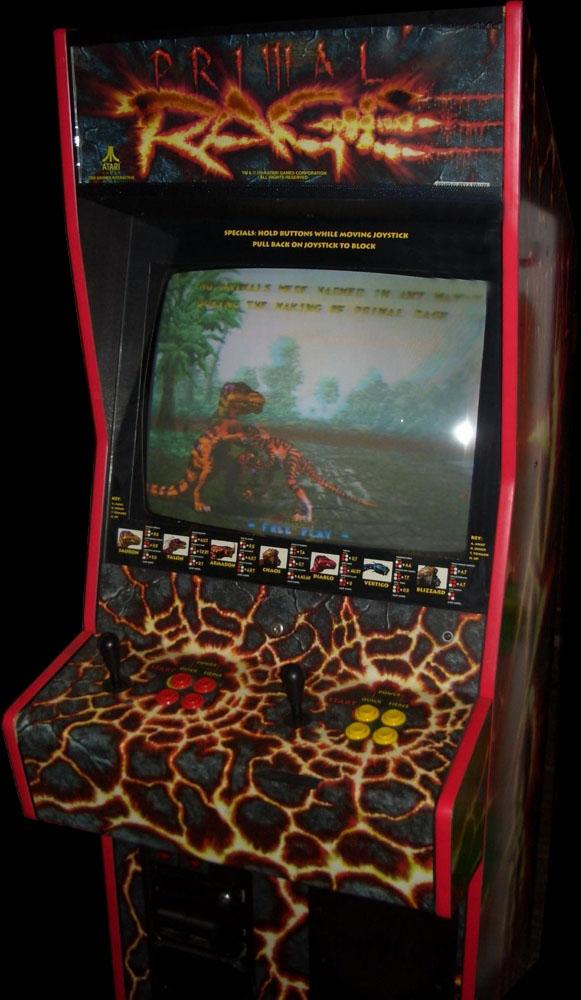 primal rage arcade machine