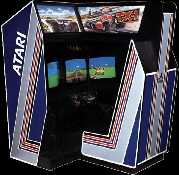 Were there ever any 3-screen arcade racing games?